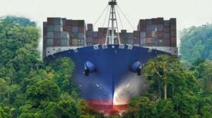 kanal-nicaragua-schiff-wald